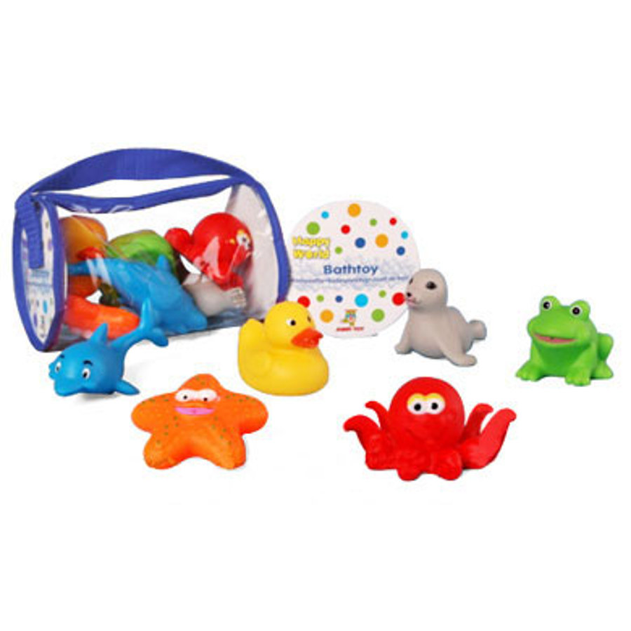 JOHNTOY Happy World 6 Bath Toy Animals*