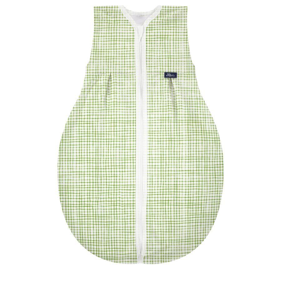 Alvi® Kugelschlafsack Molton Waldfreunde grün