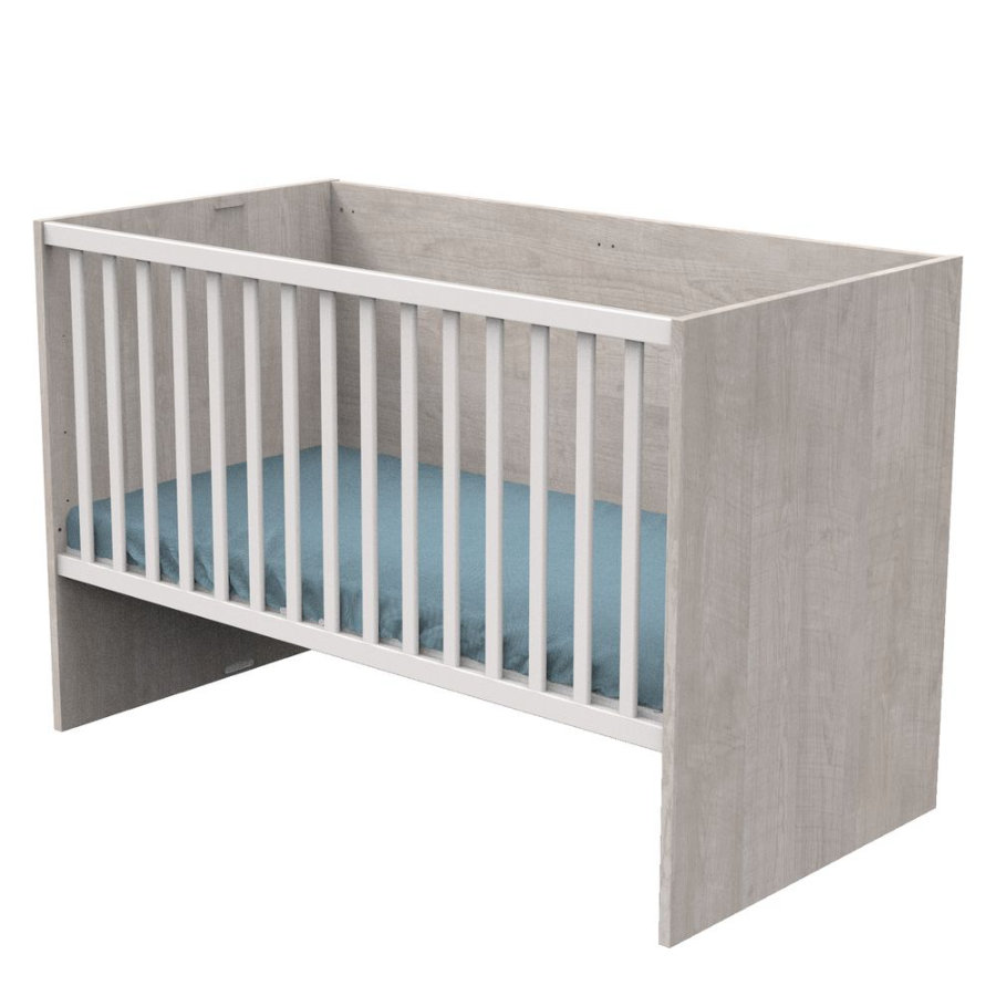 Sauthon Lit enfant évolutif Nova gris loft 70x140/90x190/140x190 cm