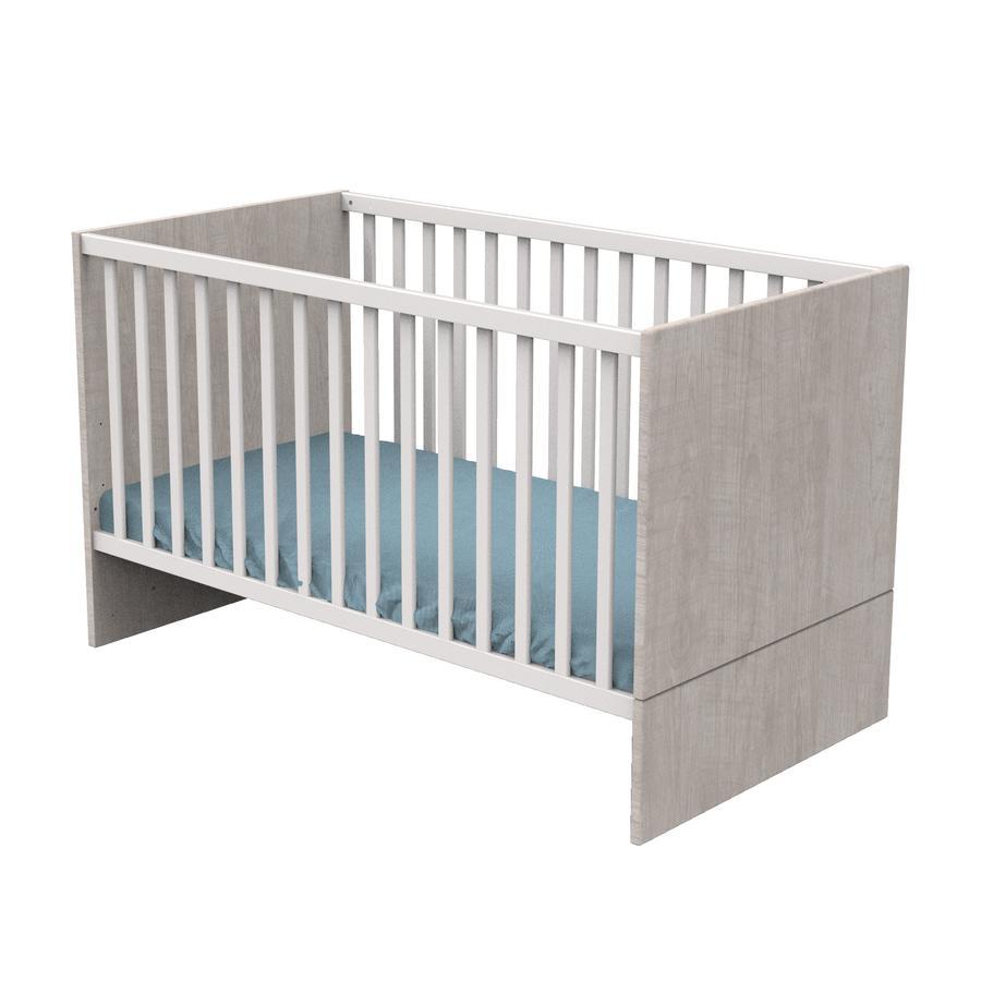 Sauthon Lit enfant à barreaux little big bed Nova gris loft 70x140 cm