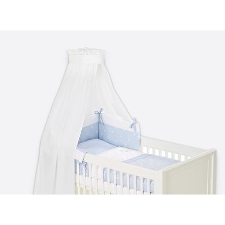Träumeland Bett-Set 3-tlg 100 x 135cm Krone blau