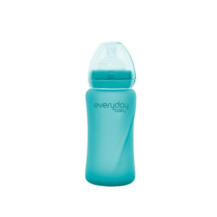 everyday Baby Babyglasflasche Heathy+ mit Wärmesensor 240 ml in turquoise