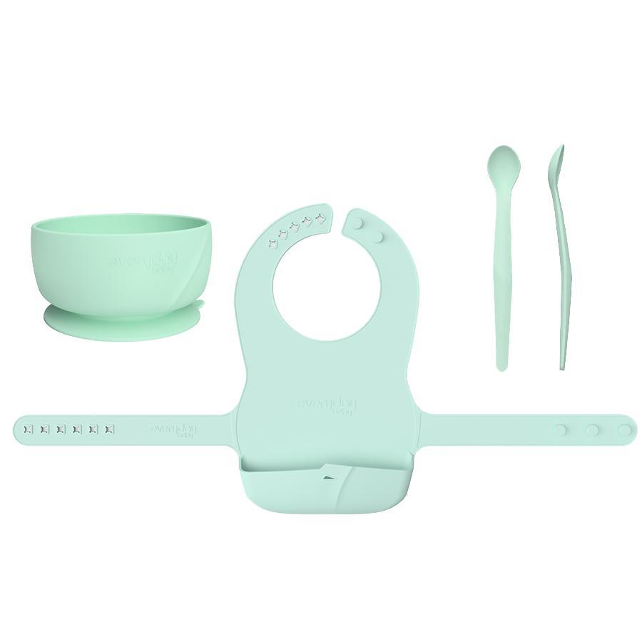 everyday Baby Esslern-Set mit Lätzchen in mint green