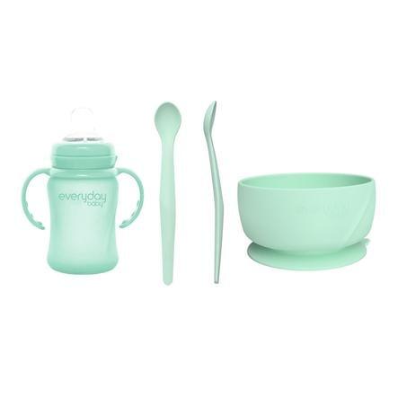 everyday Baby Juego de beber y comer I en menta green