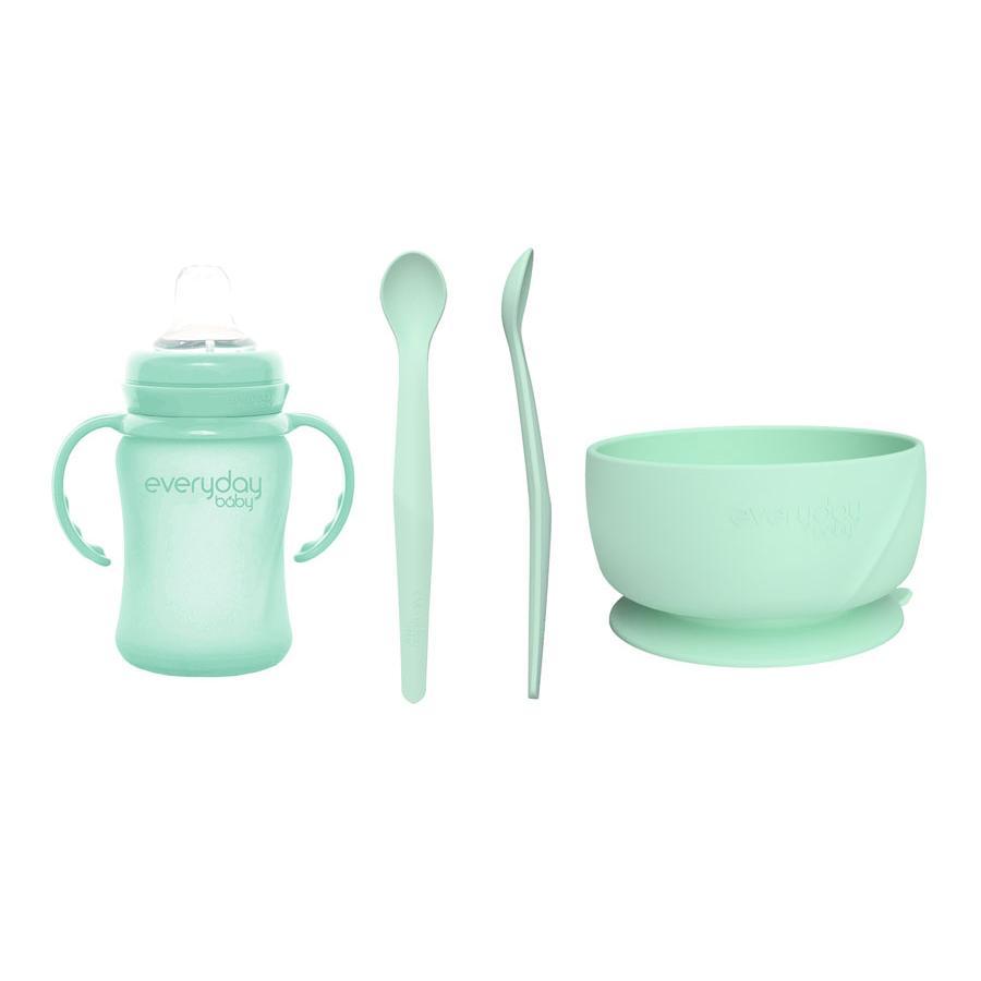 everyday Baby Sada na pití a jídlo I v mátové barvě green