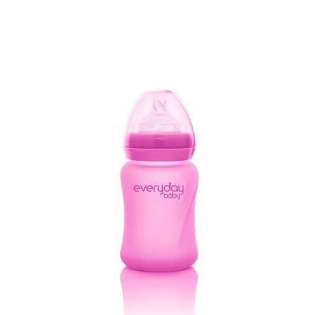 everyday Baby Babyglasflasche Heathy+ mit Wärmesensor 150 ml in pink