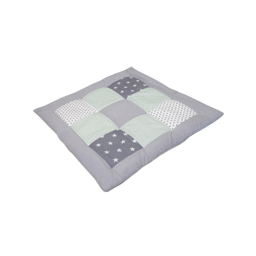 Ullenboom Krabbeldecke & Laufgittereinlage 80X80 cm Mint Grau