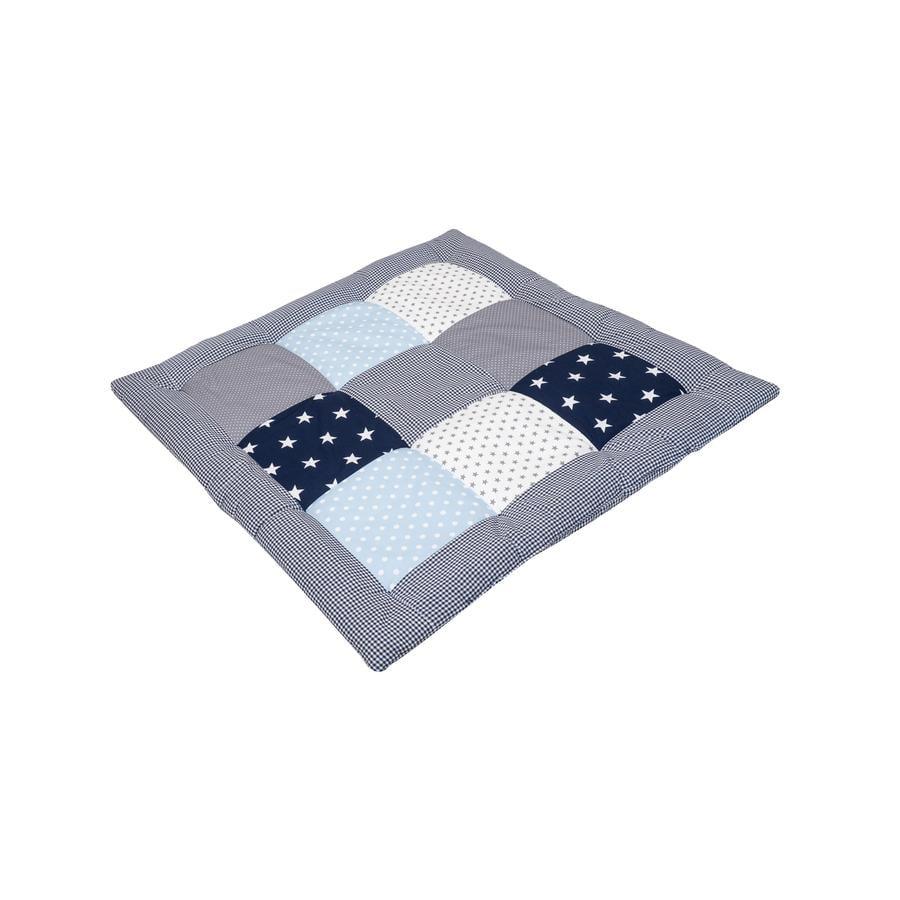 Ullenboom Krabbeldecke & Laufgittereinlage 80X80 cm Blau Hellblau Grau