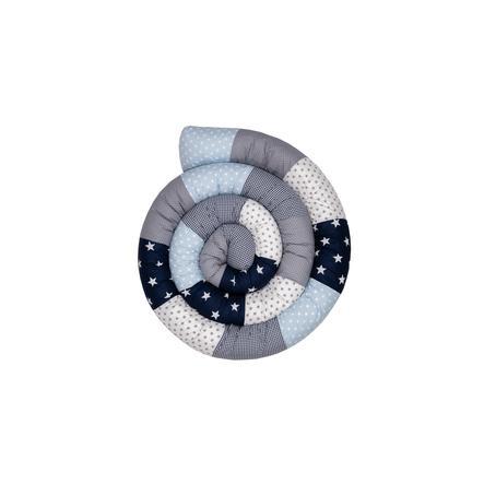 Ullenboom Baby-Bettschlange Blau Hellblau Grau 400 cm