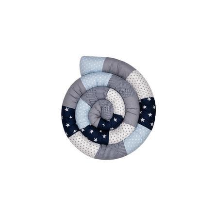 Ullenboom Babyseng Slange Blå Lys Blå Grå 400 cm