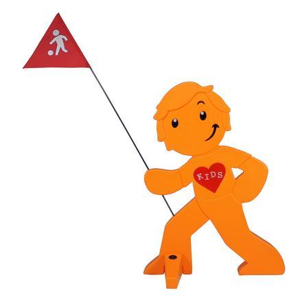 BEACHTREKKER Streetbuddy Warnfigur für mehr Kindersicherheit - orange