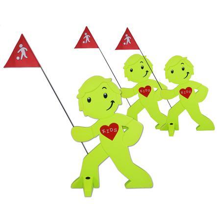 BEACHTREKKER Streetbuddy Warnfigur für mehr Kindersicherheit - grün 3er Set