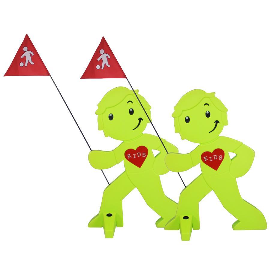 BEACHTREKKER Streetbuddy Warnfigur für mehr Kindersicherheit - grün 2er Set