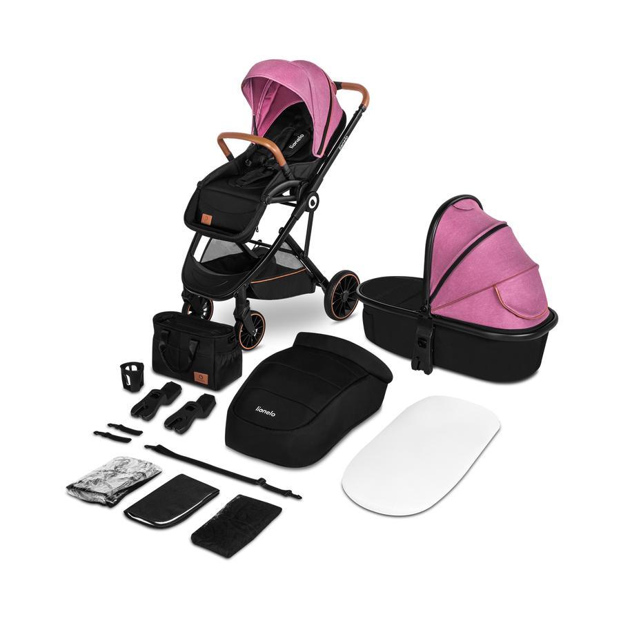 lionelo Carro de bebé Riya 2 en 1 Pink Violet