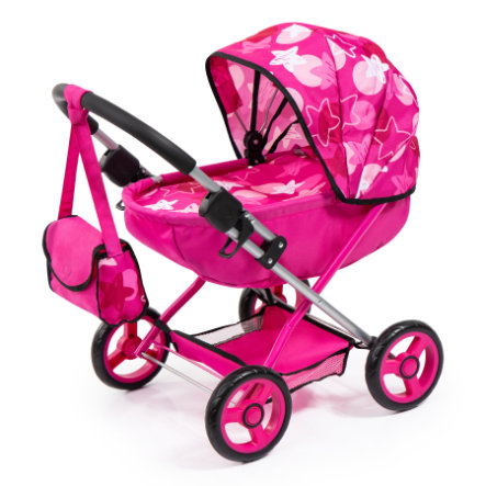 bayer Design dukkevogn lyserøde stjerner