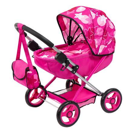 bayer Design Puppenwagen pink Sterne
