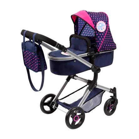 bayer Design Wózek dla lalek City Vario niebieski, z 4 naklejkami