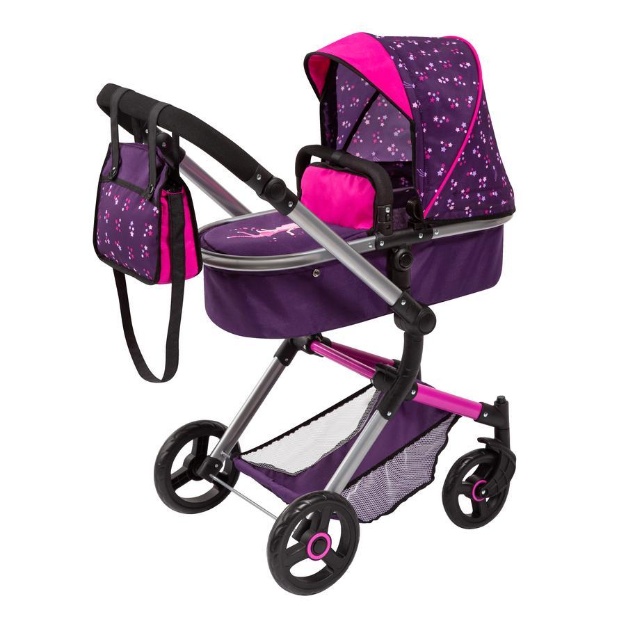 bayer Design Kombi-Puppenwagen Neo Vario lila, mit Fee