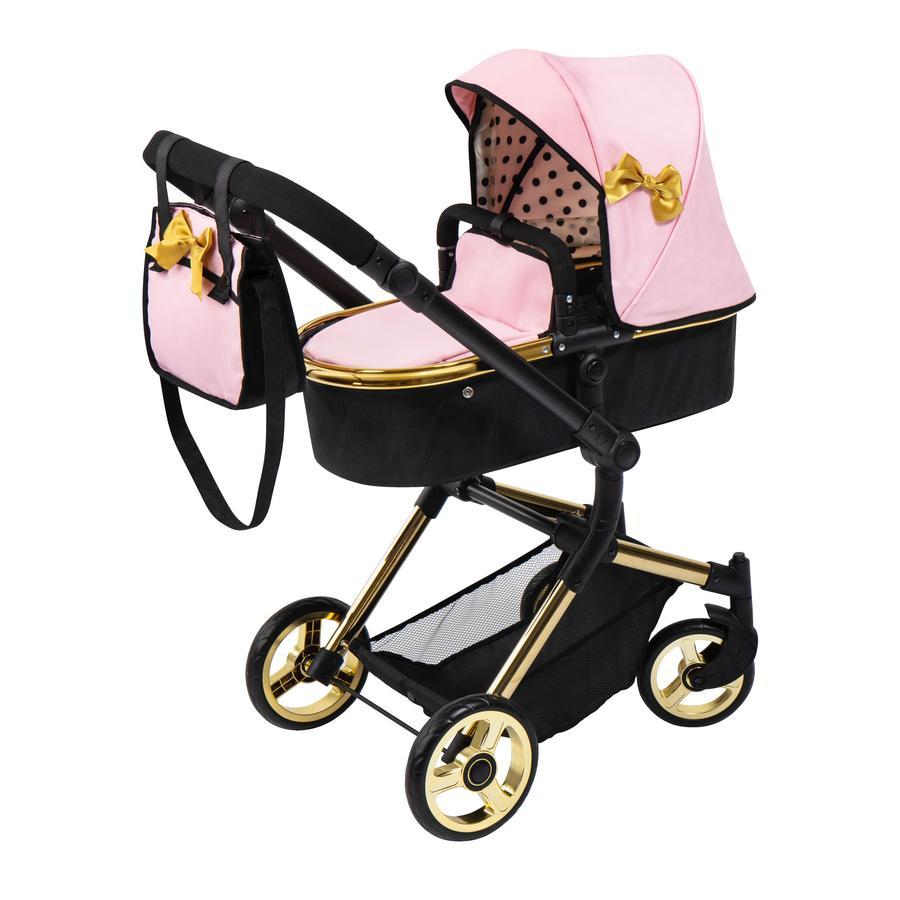 bayer Design Neo Vario zlatý kombinovaný kočárek pro panenky