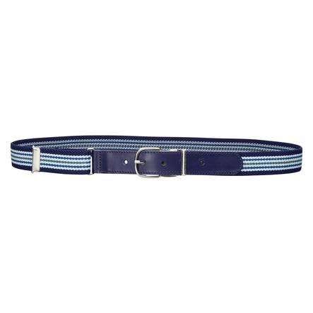 Playshoes Leder-Elastik-Gürtel hellblau/marine