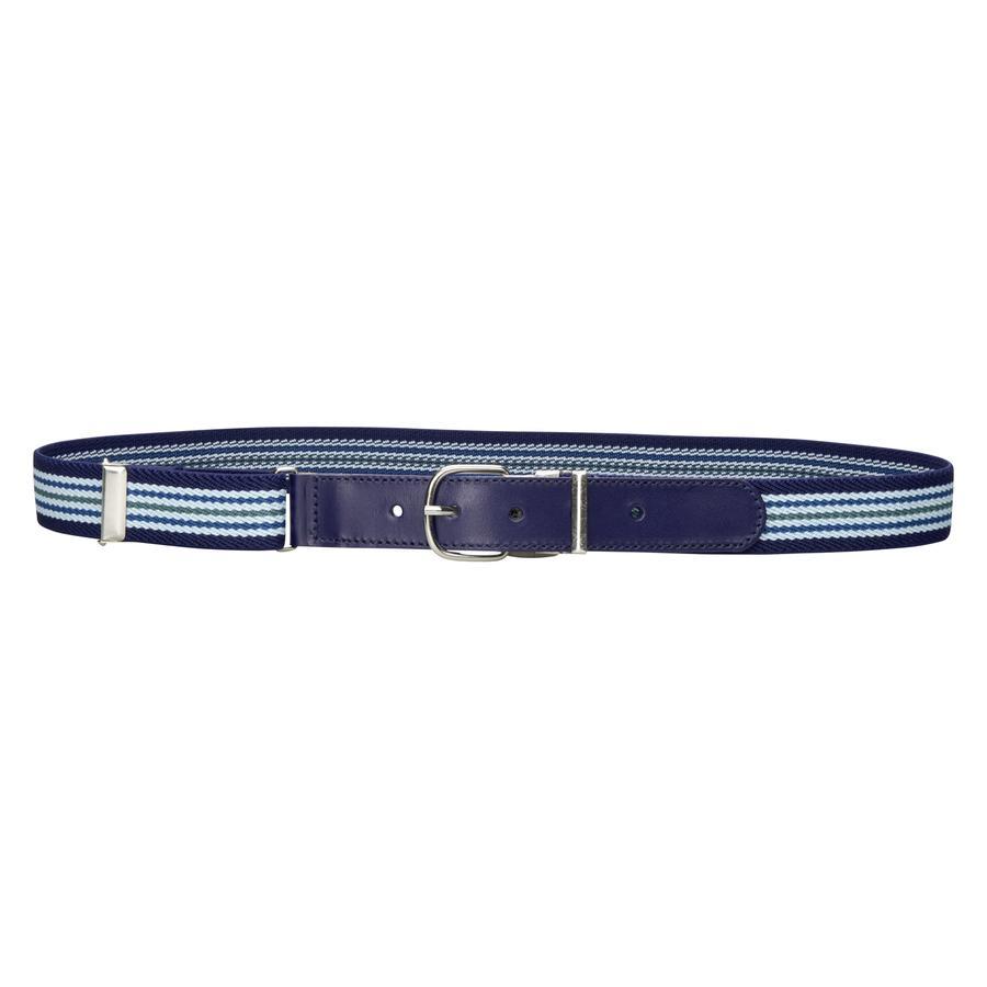 PLAYSHOES Elastische Riem Leder lichtblauw/marine