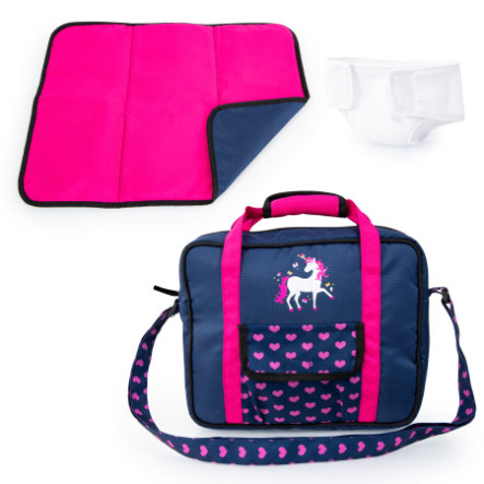 bayer Design Pflegetasche blau, mit Einhorn