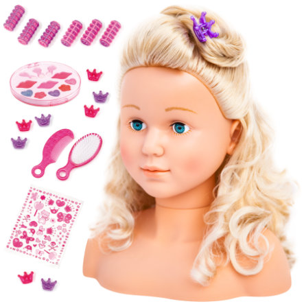 bayer Design Tête de coiffage Super Model 27 cm avec cosmétiques
