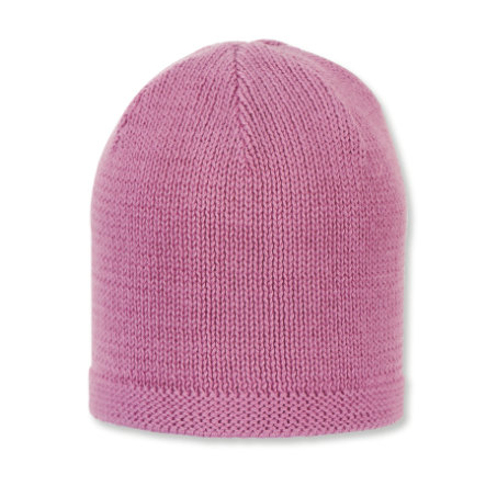 Sterntaler Organická pletená čepice růžová