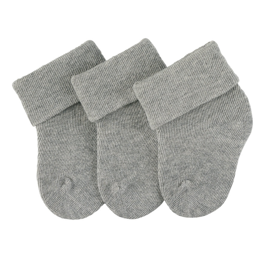 Sterntaler first socks 3-pack silver melange