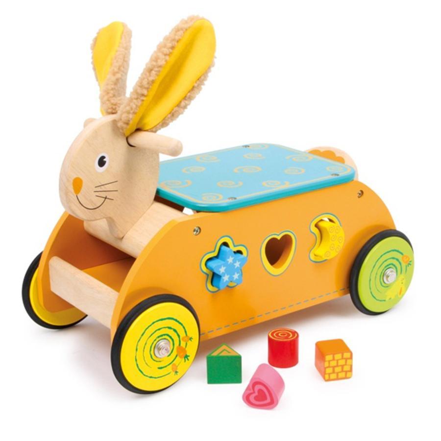 LEGLER Quadriciclo in legno Coniglio