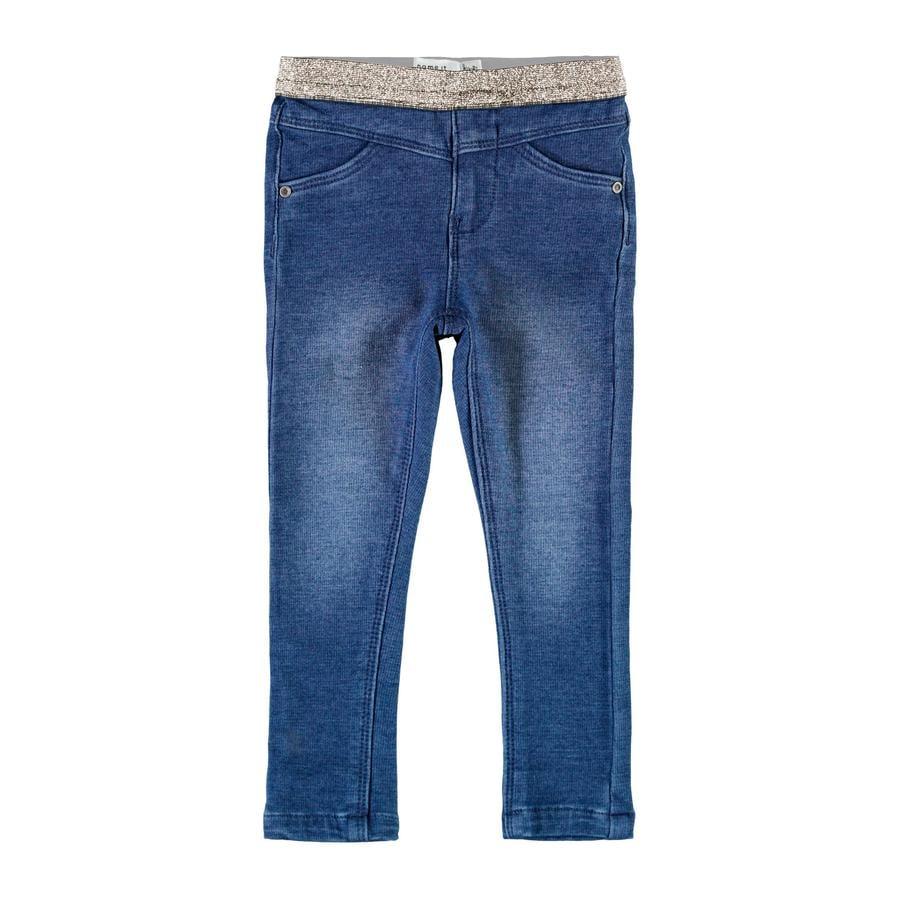 name it Leggings Nmfpolly Medium Blu Denim