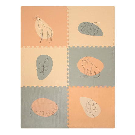 Hakuna Matte XXL Mata puzzle – Jungle Sunset 180x120 cm