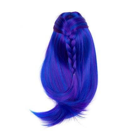 I'M A GIRLY Blue Long Wig