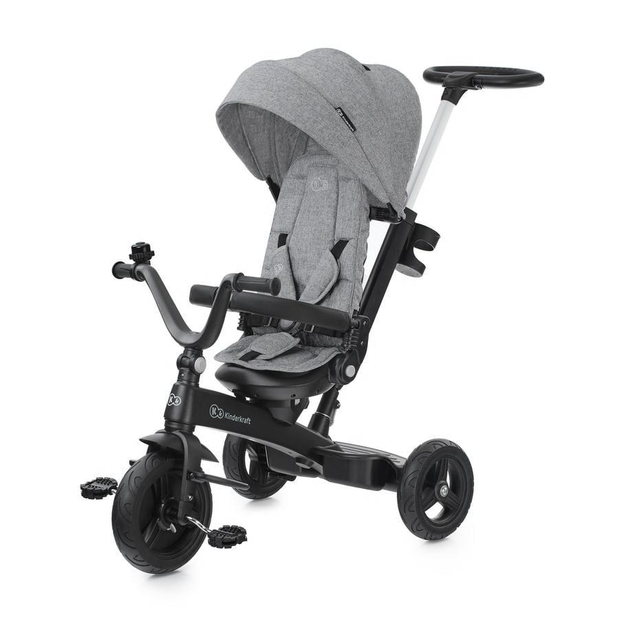 Kinderkraft 5-i-1 trehjulssykkel TWIPPER - grå