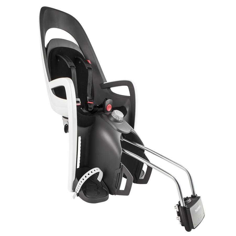 hamax Fahrradsitz Caress mit abschließbarer Halterung Grau/Weiß/Schwarz