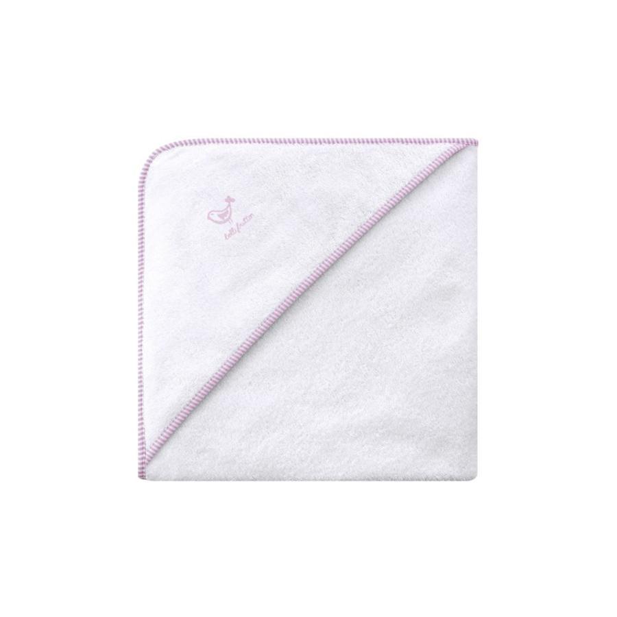 BELLYBUTTON Accappatoio Quadrato con Cappuccio bianco/rosa
