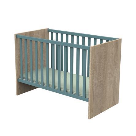 Sauthon Lit enfant à barreaux Nova bois argile douce 60x120 cm