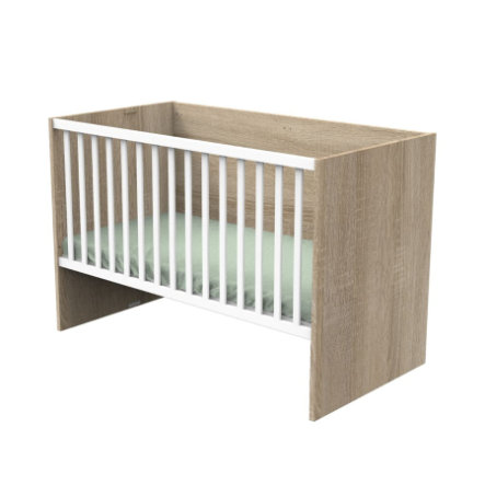 Sauthon Lit enfant évolutif Nova blanc lin 70x140/90x190/140x190 cm