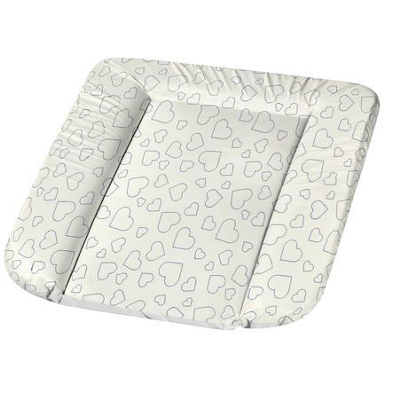 Alvi® Wickelauflage Molly Folie Hearts White 70 x 53 cm