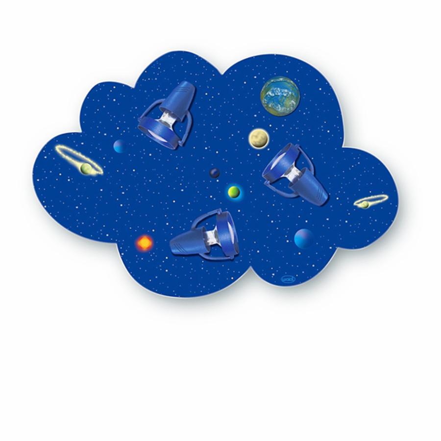 WALDI Lampada da Soffitto Universo Nuvola, blu, 3x9W/E14