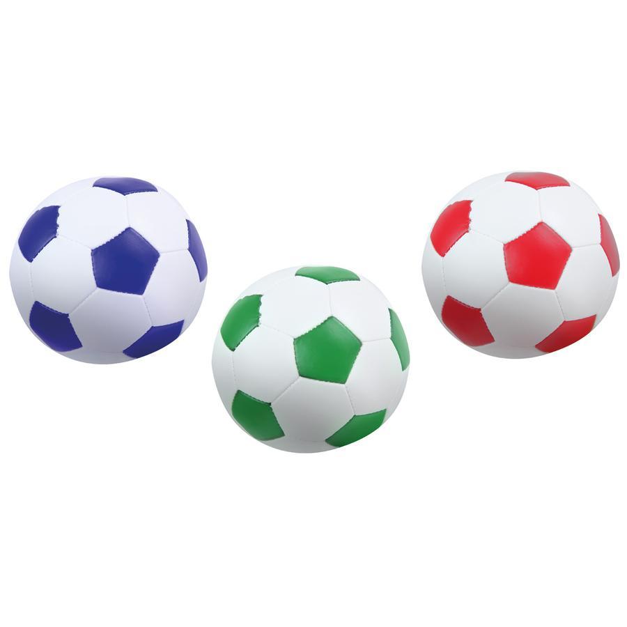 LENA ® Myk fotballsett med 3 farger 10 cm