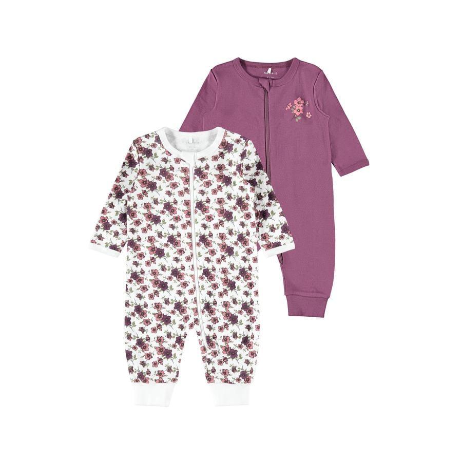 name it Sleepoverall 2-pack Prune Purple