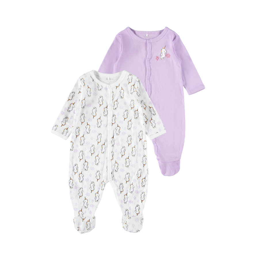 name it Schlafoverall 2er Pack Lavendula