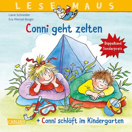 """CARLSEN LESEMAUS 205: """"Conni geht zelten"""" + """"Conni übernachtet im Kindergarten"""" Conni Doppelband"""