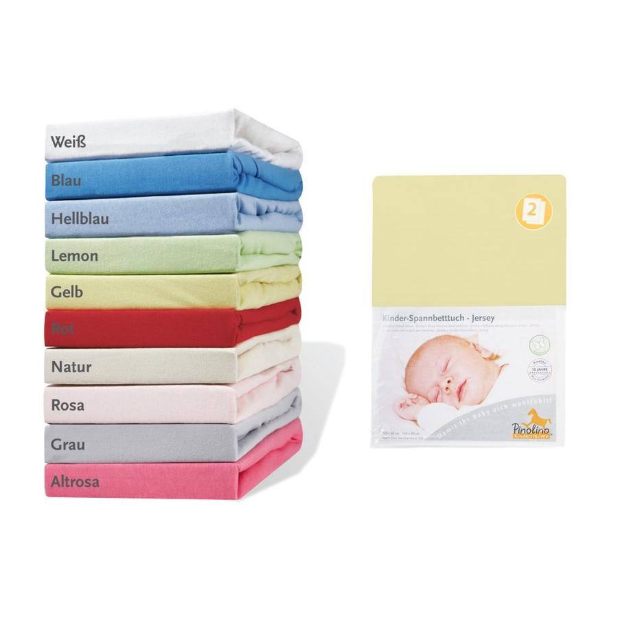 Pino lino Hoeslaken Jersey dubbelpak - geel