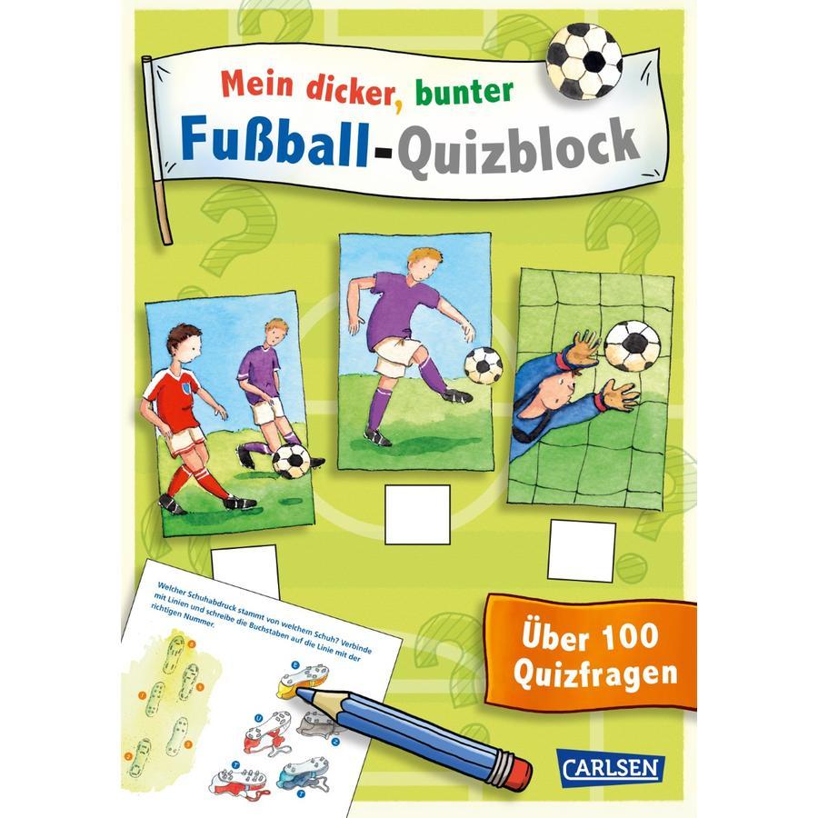 CARLSEN Mein dicker, bunter Fußball-Quizblock