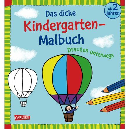 CARLSEN Das dicke Kindergarten-Malbuch: Draußen unterwegs