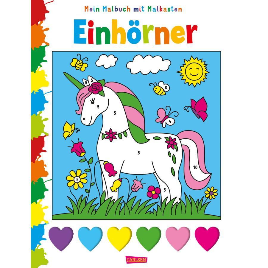 CARLSEN Mein Malbuch mit Malkasten: Einhörner