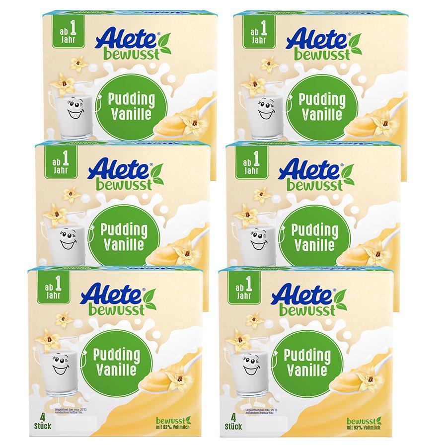 Alete Becherprodukt Pudding Vanille 6 x (4 x 100 g) ab dem 1. Jahr