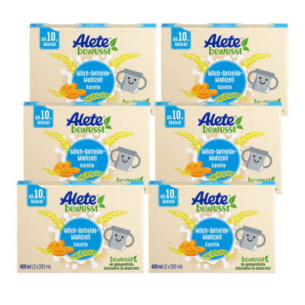 Alete Milch-Getreide-Mahlzeit Karotte 6 x 400 ml (12 x 200 ml) ab dem 10. Monat